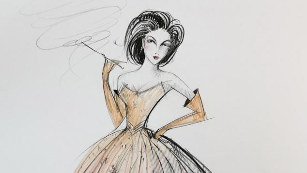 Costume sketches by Gabriela Tylesova