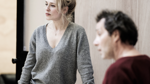 Susie Porter and Euguene Gilfedder in rehearsal