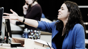 Director Leticia Caceres in rehearsal