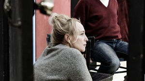 Susie Porter and Eugene Gilfedder in rehearsal