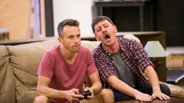 Luke Ryan and Hamish Michael in rehearsals