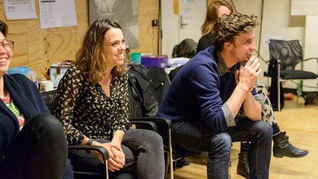 The creative team in rehearsal