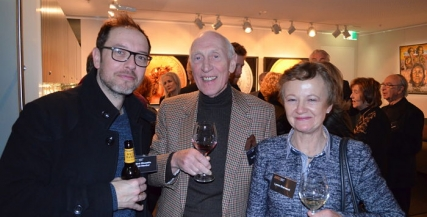 Steve Mouzakis with Tim and Lynne Sherwood