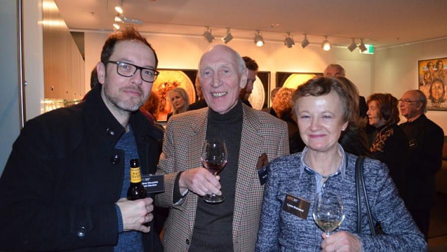 Steve Mouzakis with Tim and Lynne Sherwood
