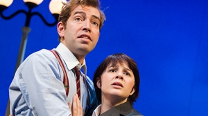 Man and woman embracing, One Man, Two Guvnors