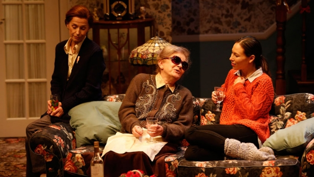 Helen Morse, Melita Jurisic and Ursula Mills on stage in John