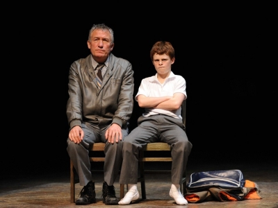 Richard Piper playing Billy's Dad alongside Josh Denier playing Billy in the Australian Production of Billy Elliot the Musical. Photo by James Morgan.