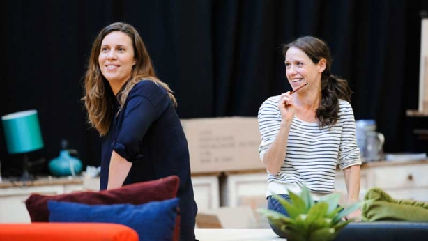 Katherine Tonkin and Kate Atkinson in rehearsals