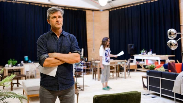 Peter Houghton and Catherine McClements in rehearsals