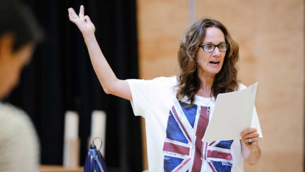 Catherine McClements in rehearsals