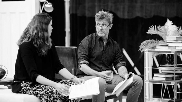 Katherine Tonkin and Peter Houghton in rehearsals