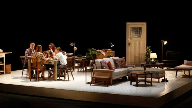 Peter Houghton, Katherine Tonkin, Kate Atkinson and Catherine McClements on stage in Three Little Words