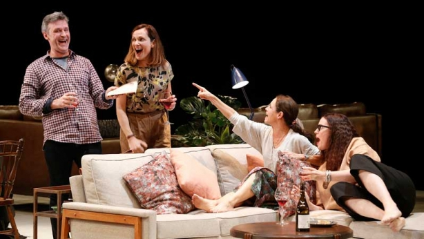 Catherine McClements, Peter Houghton, Kate Atkinson and Katherine Tonkin on stage in Three Little Words