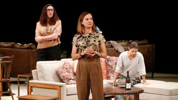 Catherine McClements, Kate Atkinson and Katherine Tonkin on stage in Three Little Words