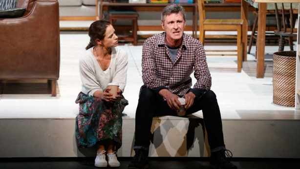 Kate Atkinson and Peter Houghton on stage in Three Little Words