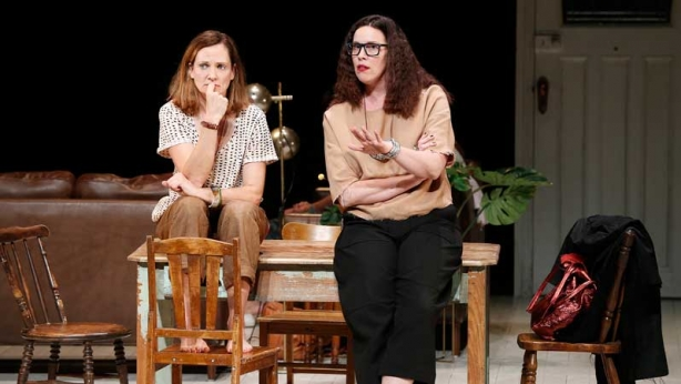 Catherine McClements and Katherine Tonkin on stage in Three Little Words