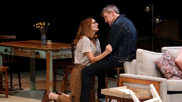 Catherine McClements and Peter Houghton on stage in Three Little Words
