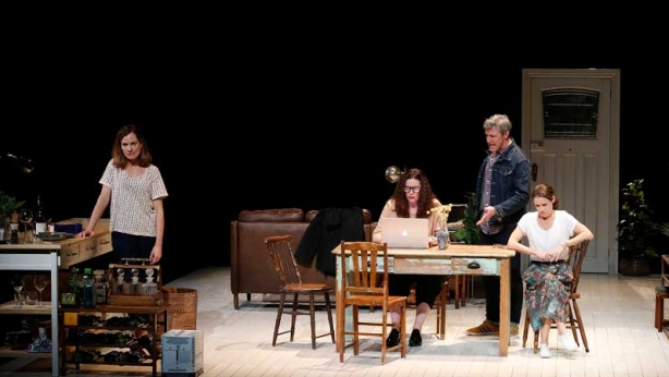 Catherine McClements, Katherine Tonkin, Peter Houghton and Kate Atkinson on stage in Three Little Words
