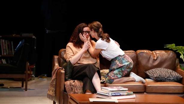 Katherine Tonkin and Kate Atkinson on stage in Three Little Words