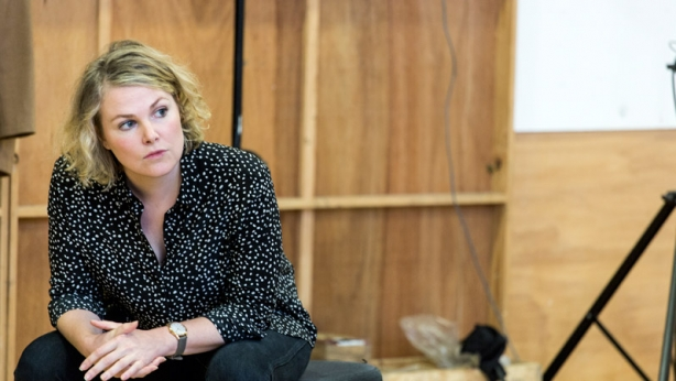 Director Anne-Louise Sarks in rehearsal