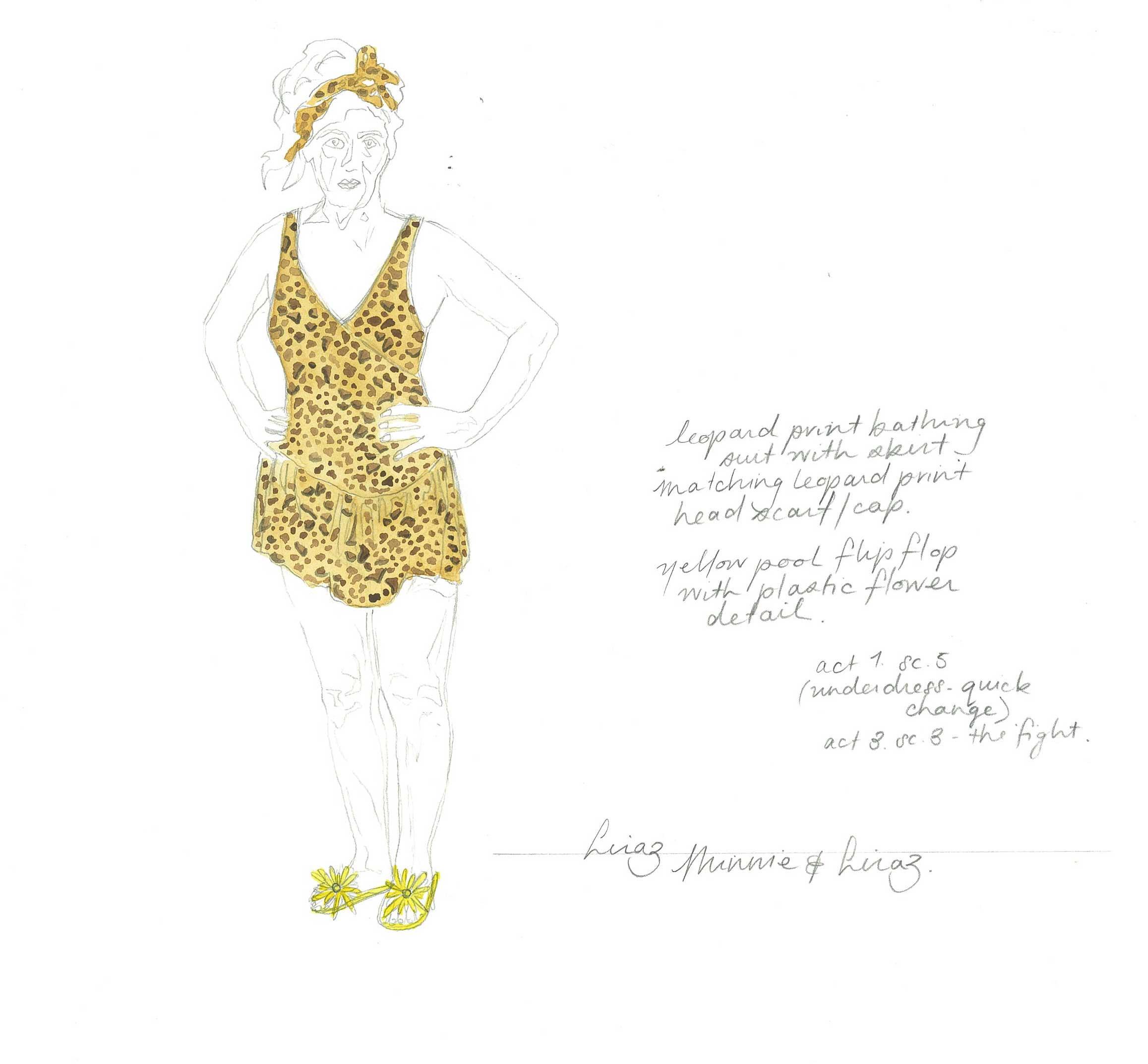 Liraz's bathers sketch by Mel Page