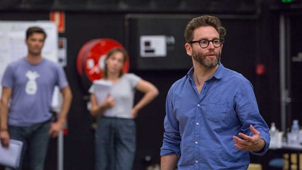 Director Sam Strong in rehearsals for Noises Off