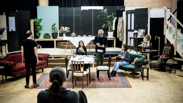 Hay Fever rehearsals