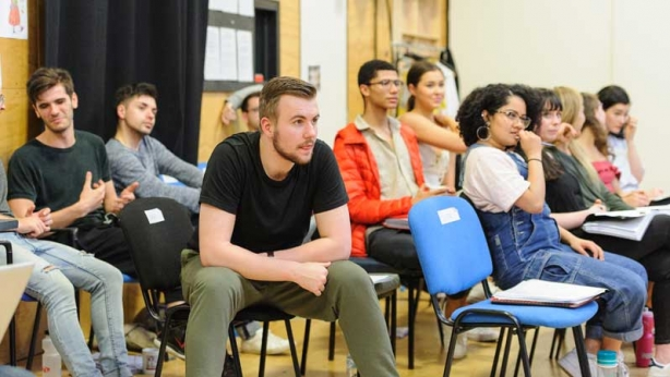 VCA students in rehearsal for Vivid White