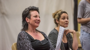 Carita Farrer Spencer and Lucy Maunder in rehearsals