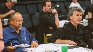 Lighting Designer David Walters and Director Simon Phillips in rehearsals