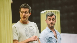 Andrew Broadbent and Bobby Fox in rehearsals