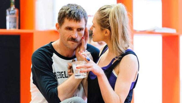Daniel Frederikson and Pip Edwards in rehearsal