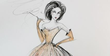 Costume sketches by Gabriela Tylesova