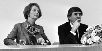 Margaret Thatcher with Ruud Lubbers in 1983