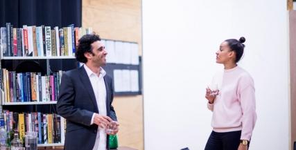 Zindzi in rehearsals with Hazem Shammas