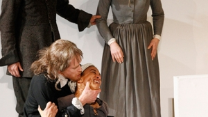 Paul English, Grant Cartwright, Naomi Rukavina and Heather Bolton in The Crucible