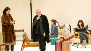 Pamela Rabe, Roger Oakley, Nikki Shiels and Eloise Mignon in 'The Cherry Orchard'