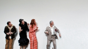 Toby Truslove, Pamela Rabe, Katherine Tonkin and Roger Oakley in 'The Cherry Orchard'