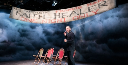 Colin Friels on stage in Faith Healer