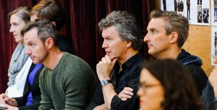 Simon Phillips in rehearsals for Macbeth