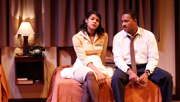 Zahra Newman and Bert LaBonte in The Mountaintop