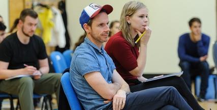 Director Dean Bryant in rehearsals