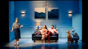 Virginia Gay, Christina O'Neill, Ben Mingay and Keegan Joyce on stage in Vivid White