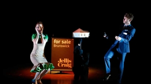 Gillian Cosgriff and Keegan Joyce on stage in Vivid White
