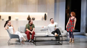 Christina O'Neill, Brent Hill, Ben Mingay and Verity Hunt-Ballard and on stage in Vivid White