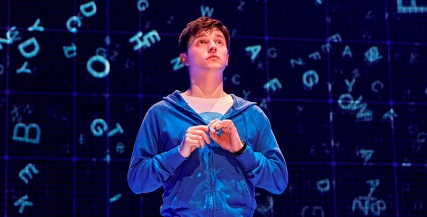 Joshua Jenkins (Christopher) in The Curious Incident of the the Dog in the Night-Time, photo by Brinkhoff&Mogenberg