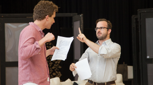 Leon Ford and John Leary in rehearsal