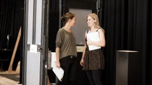 Nadine Garner and Lucy Durack in rehearsal
