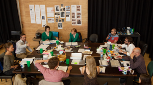 The 'Private Lives' team in rehearsal