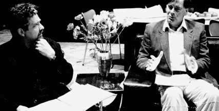 Philip Quast and Peter Curtin rehearsing for 'The Goat, or Who Is Sylvia?' (2003)